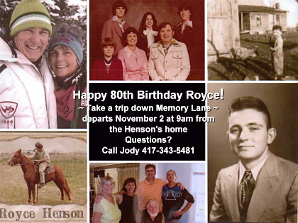 Royce Henson's 80th